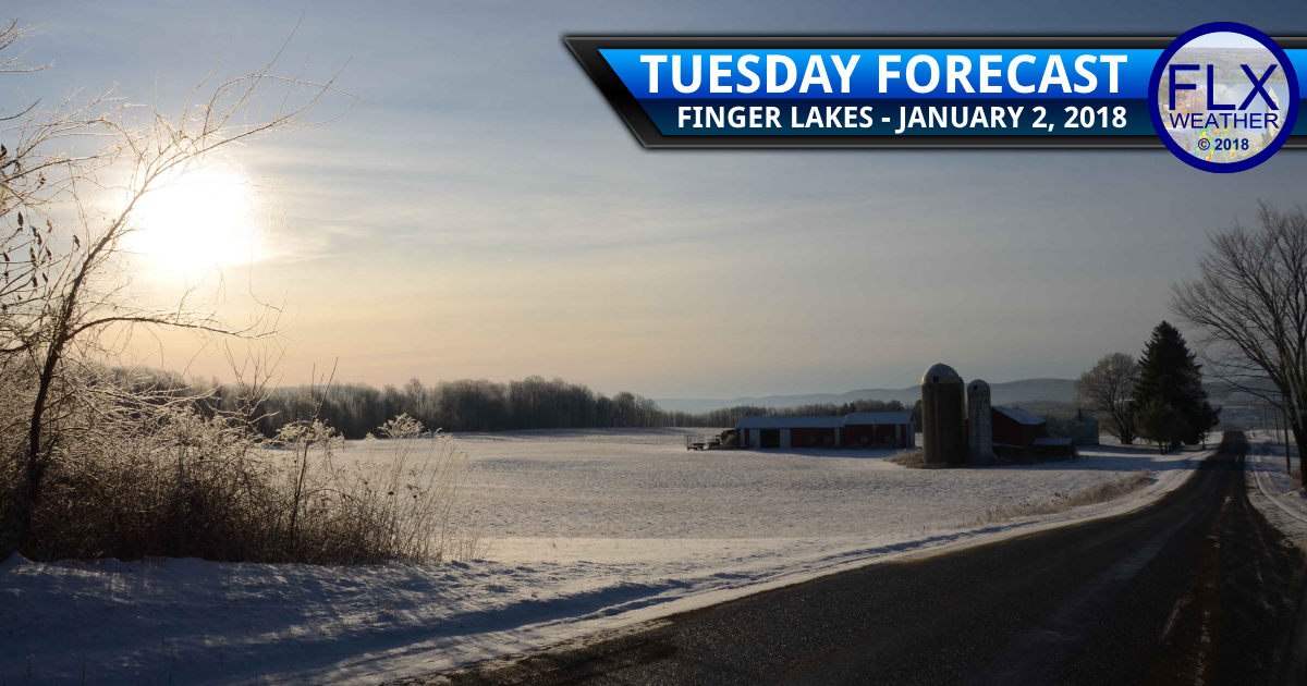 finger lakes weather forecast tuesday january 2 2018 snow cold sun