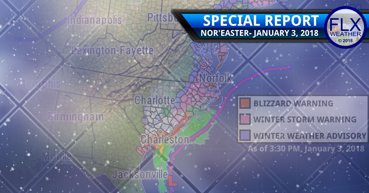 """East coast """"bombogenesis"""" expected as nor'easter strengthens"""