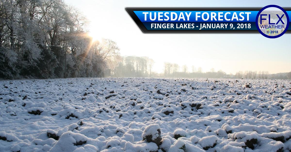 finger lakes weather forecast tuesday janaury 9 2018 snow sun warm up