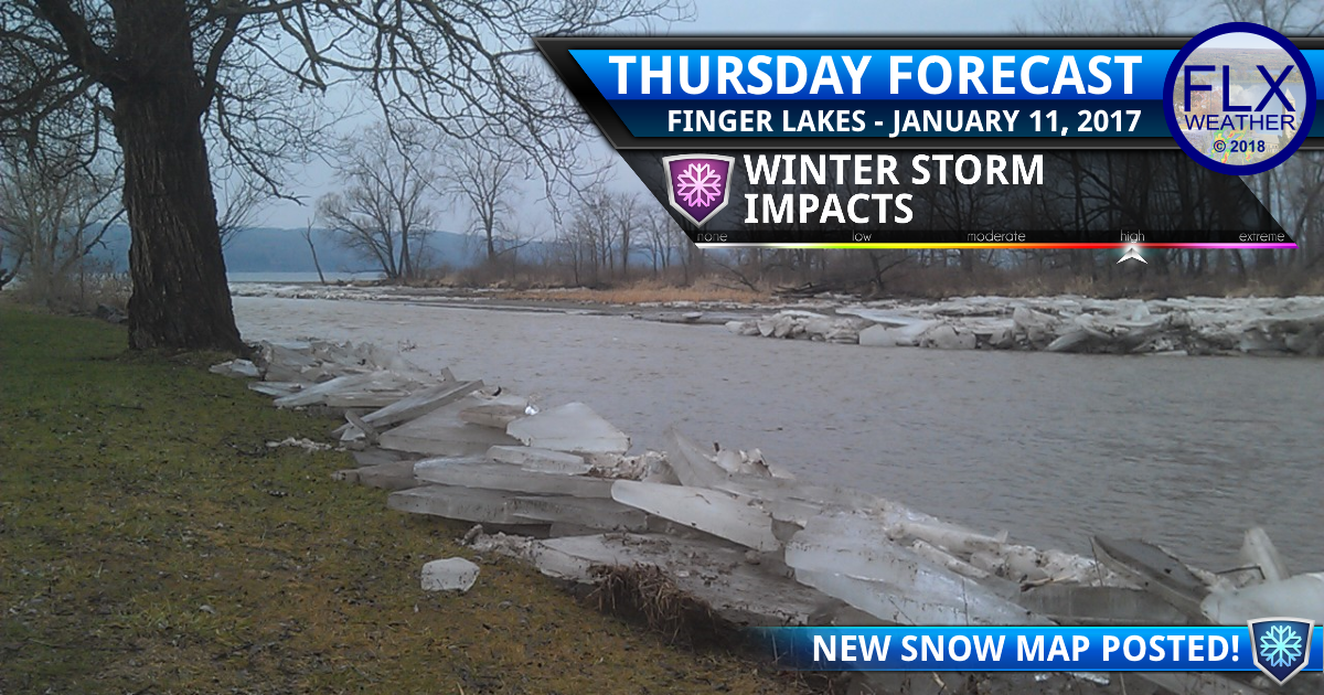 Ice jam flooding, severe winter storm threaten Finger Lakes
