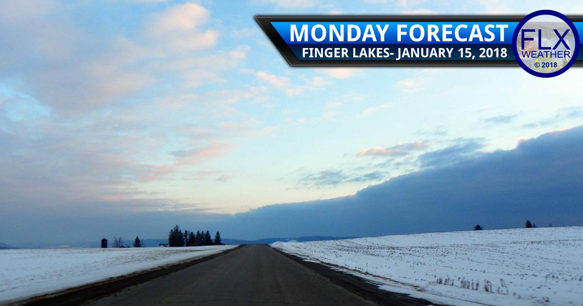 Light snow passes through Finger Lakes Monday Night-Tuesday