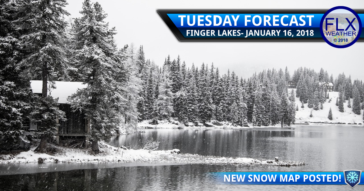 Accumulating snow Tuesday in the Finger Lakes