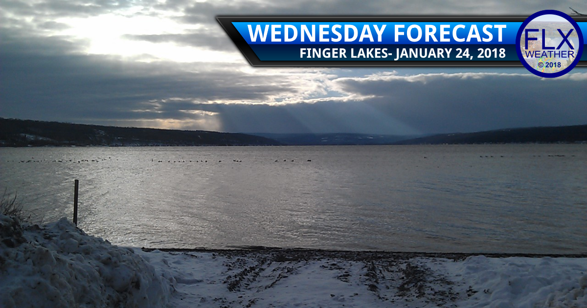 finger lakes weather forecast wednesday janauary 24 2018 cloudy snow sun cool