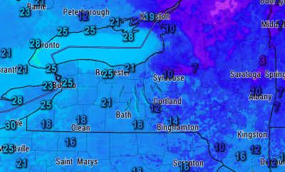 finger lakes weather temperatures 7am friday january 26 2018