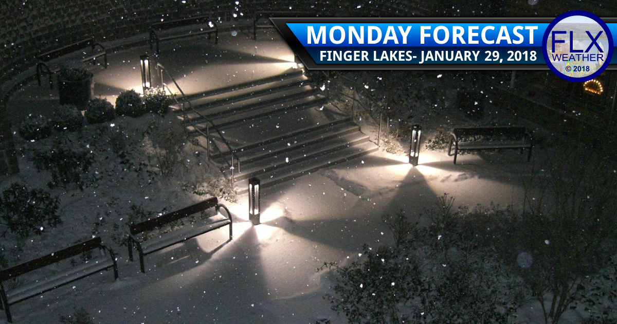 Snow returns to the Finger Lakes Monday night into Tuesday