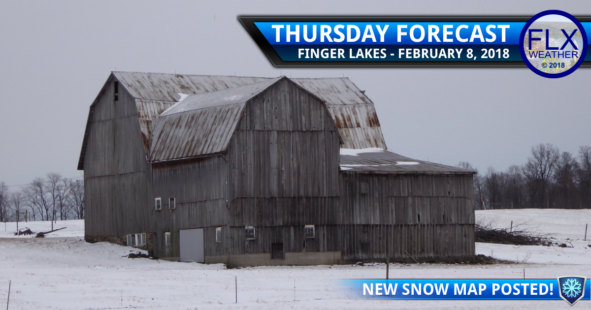 Flurries Thursday before widespread, light snow Friday
