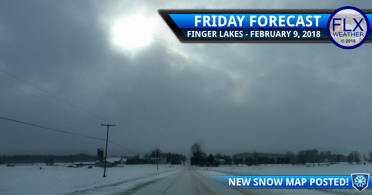 Light mixed precipitation through the weekend in the Finger Lakes