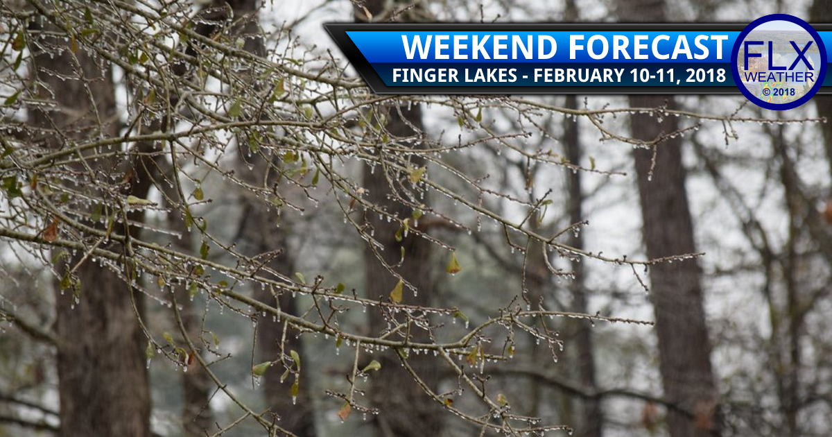 Spotty ice in the Finger Lakes this weekend