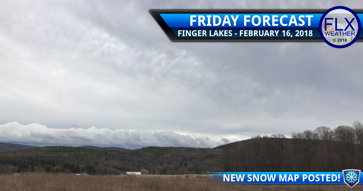 Cooler air, snow, back in the forecast for the Finger Lakes