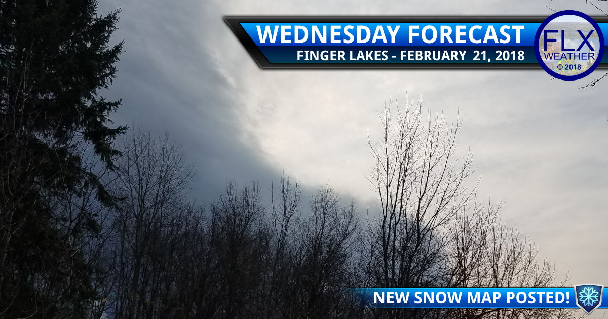 finger lakes weather forecast wednesday february 21 2018 thursday snow map