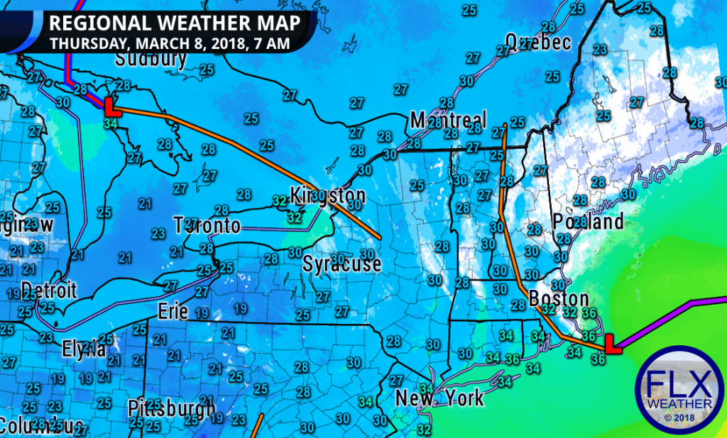 finger lakes weather regional map noreaster