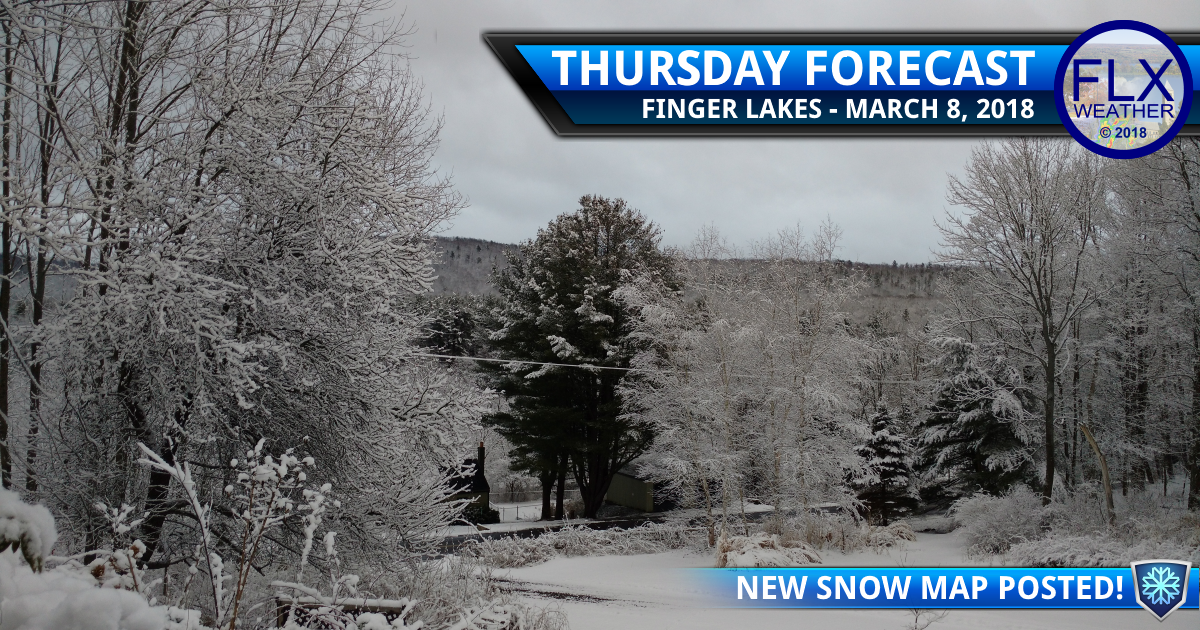 A few flurries Thursday, snowier Friday