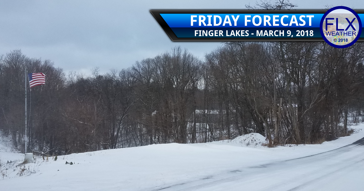 Wintry weather across the Finger Lakes Friday