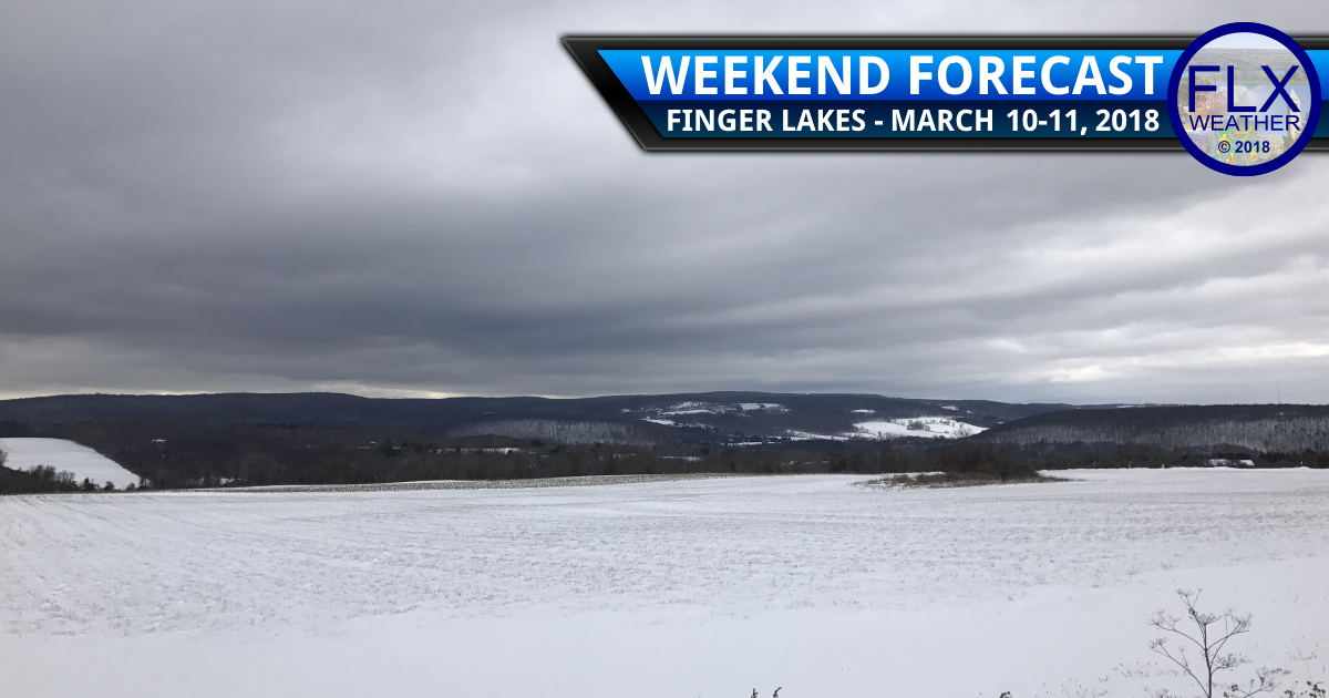 Cloudy and cool weekend for the Finger Lakes