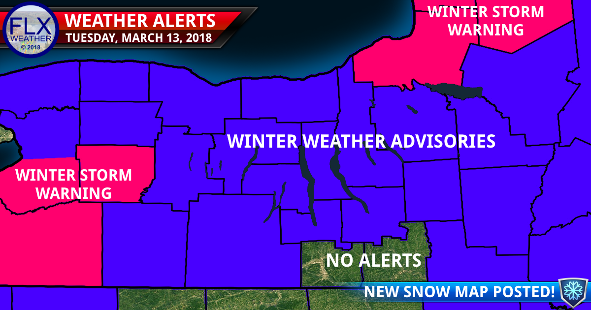 finger lakes weather forecast tuesday march 13 2018 winter weather advisory