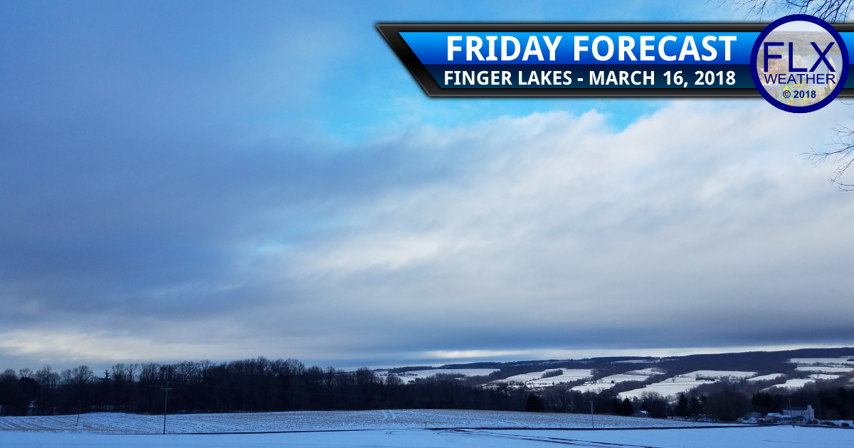 Friday morning lake flakes lead into sunny weekend