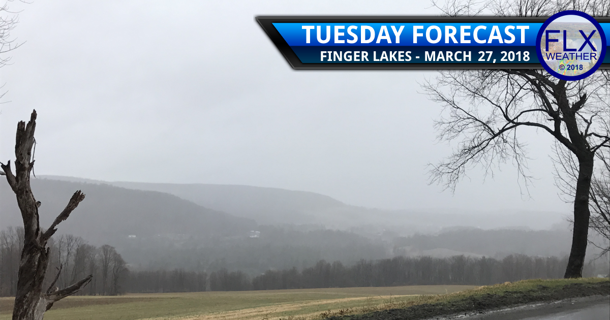 Rain moves into the Finger Lakes Tuesday