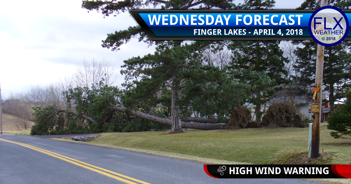 finger lakes weather forecast wednesday april 4 2018 wind storm high wind warning