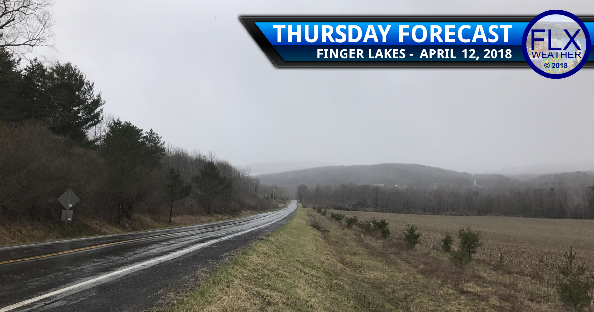 Rain arrives in the Finger Lakes as warm air pushes north