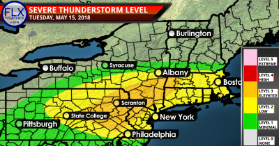 finger lakes weather tuesday may 15 severe thunderstorm outlook
