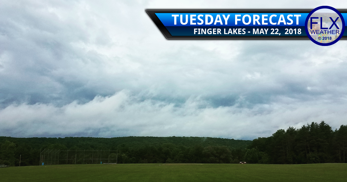 Tuesday morning showers, evening rumbles