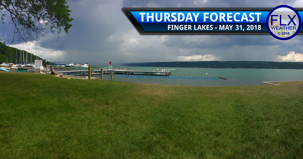 finger lakes weather forecast thursday may 31 2018 rain thunder