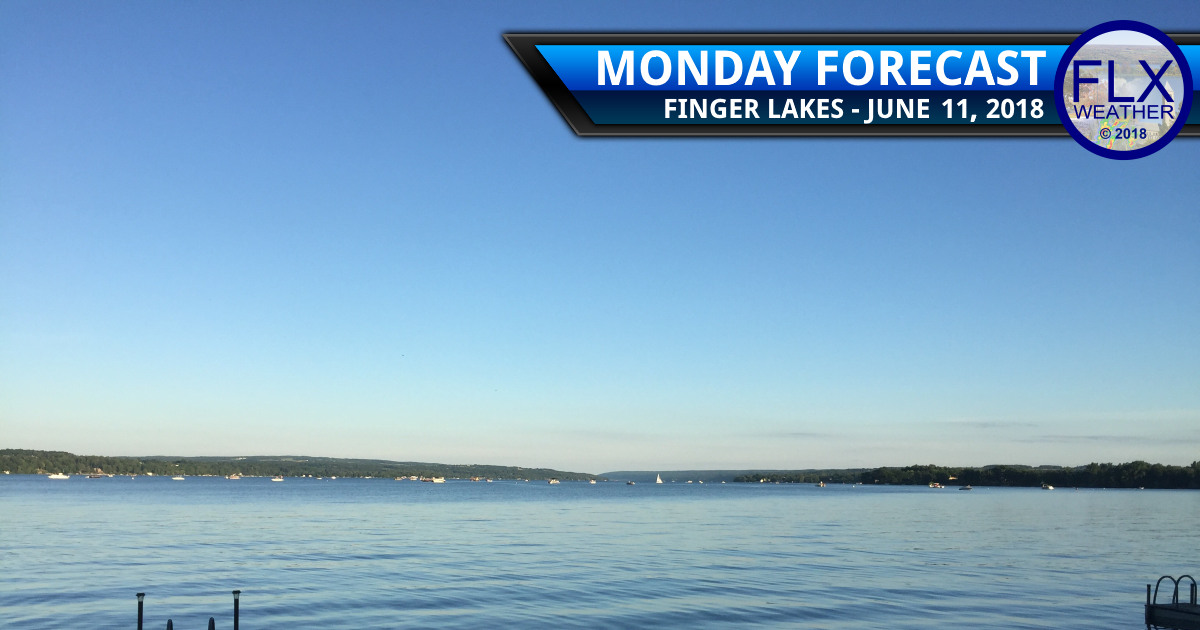 finger lakes weather forecast monday june 11 2018 sunny warm rain wednesday