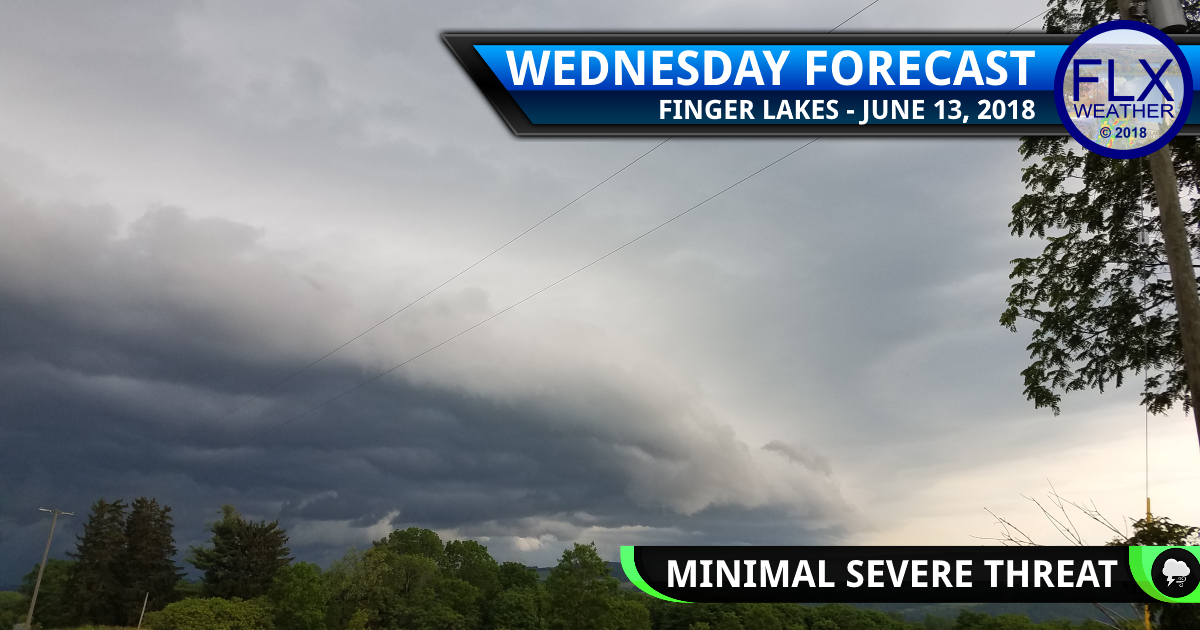 finger lakes weather forecast wednesday june 13 2018 severe thunderstorm slight risk