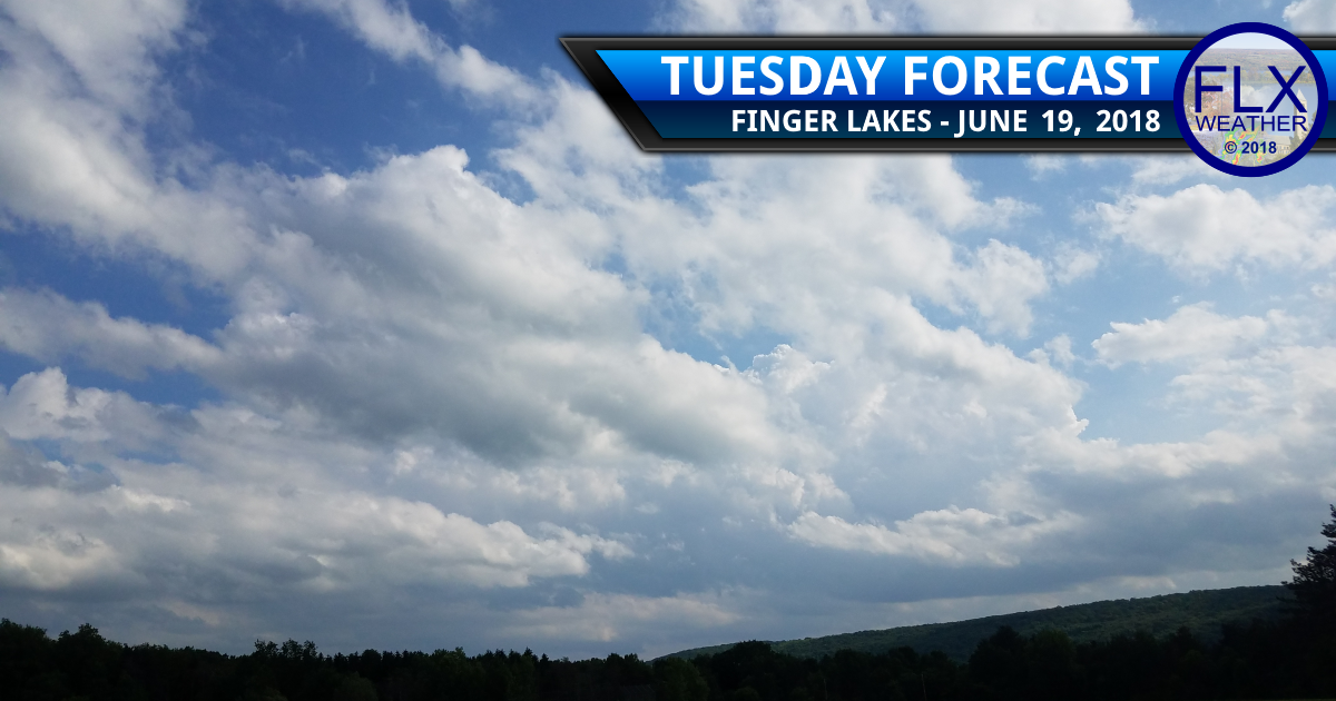 finger lakes weather forecast tuesday june 19 2018 sun clouds cooler less humid refreshing