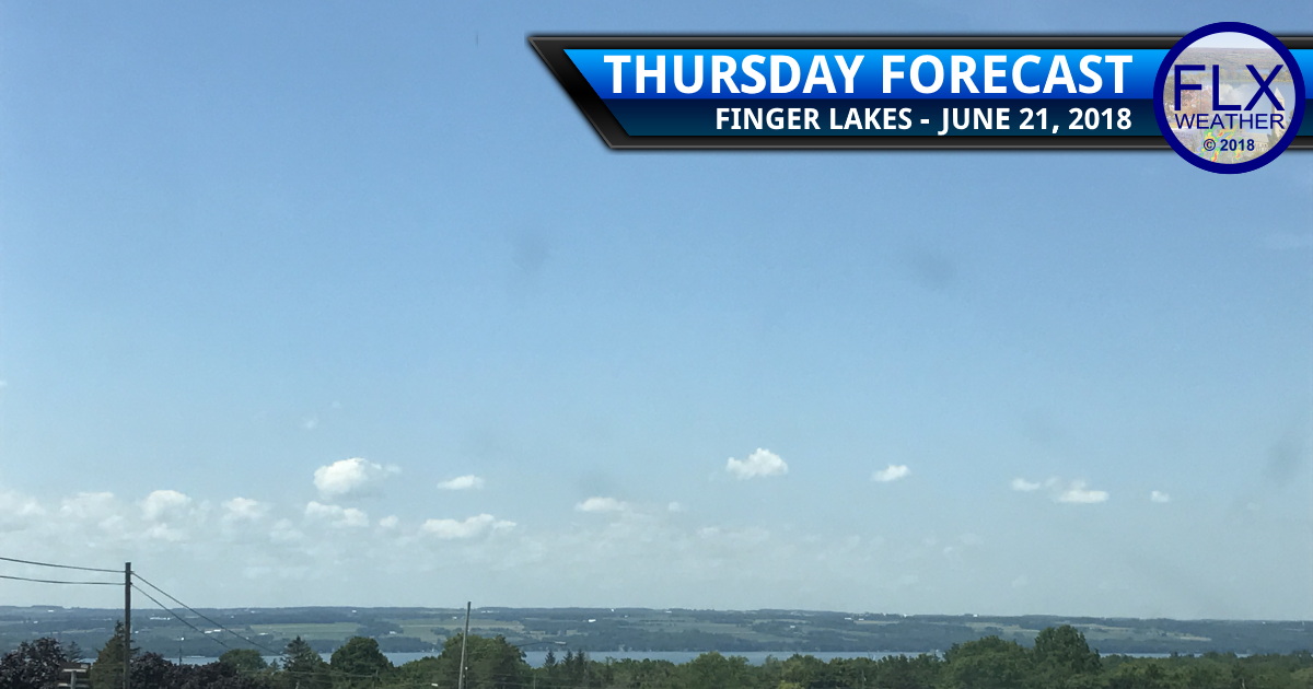 finger lakes weather forecast thursday june 21 2018 sunny weekend rain