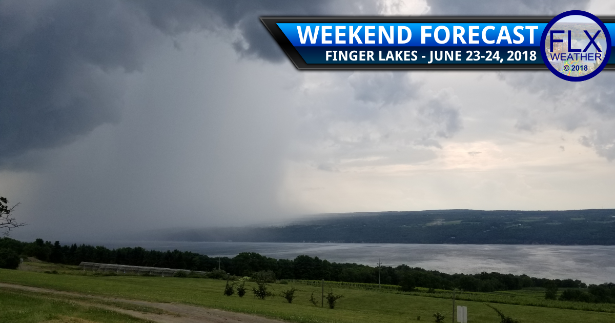 when will it rain in the Finger Lakes this weekend saturday june 23 2018