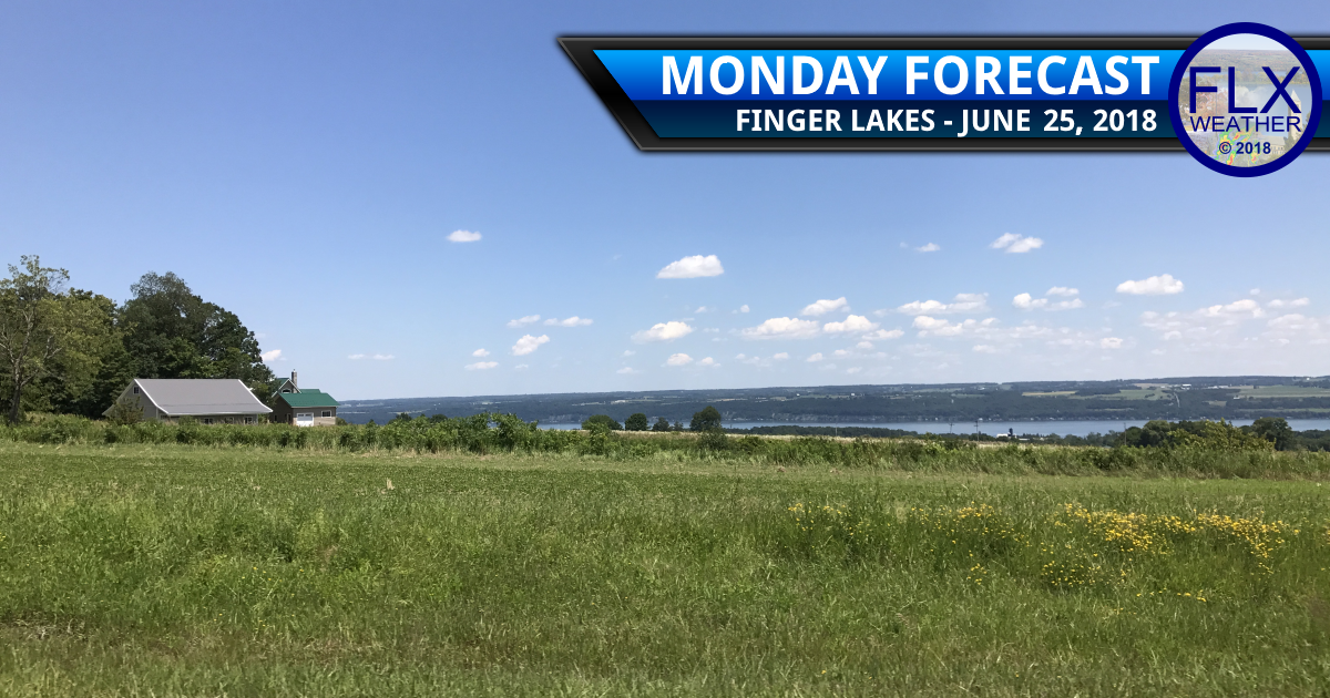 finger lakes weather forecast monday june 25 2018 comfortable temperatures