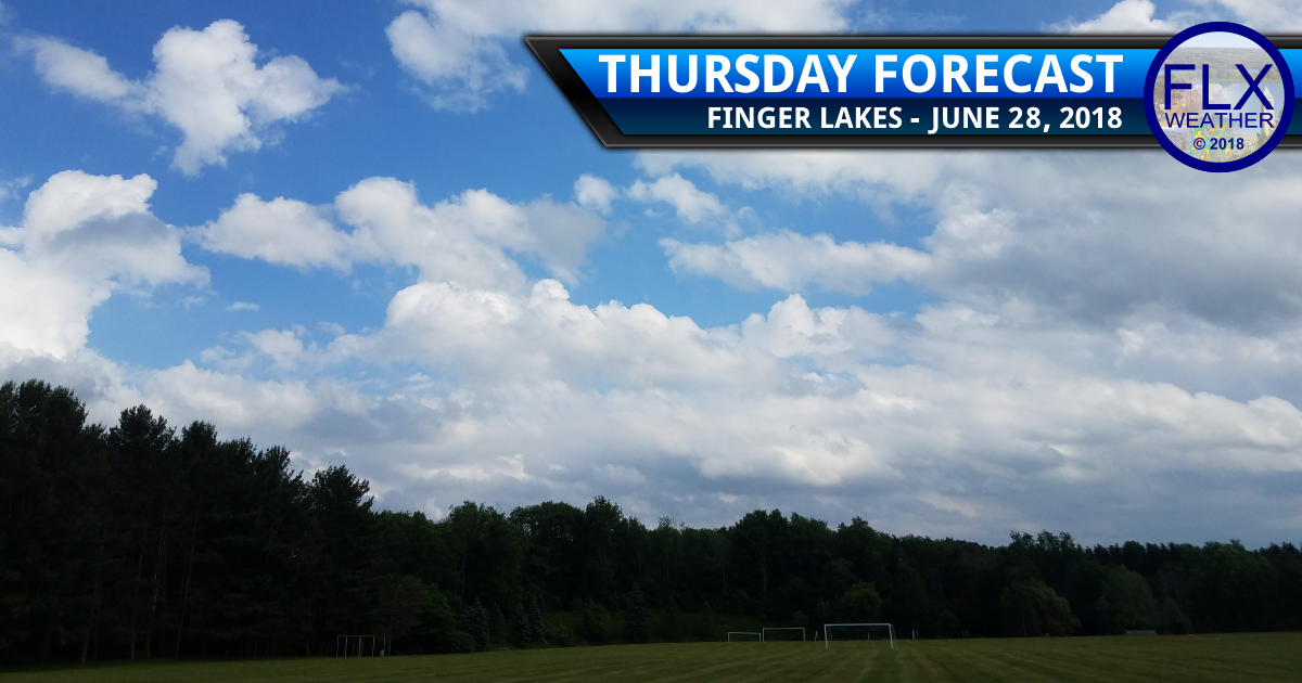 finger lakes weather forecast thursday june 28 2018 clouds sun weekend temperatures heat wave