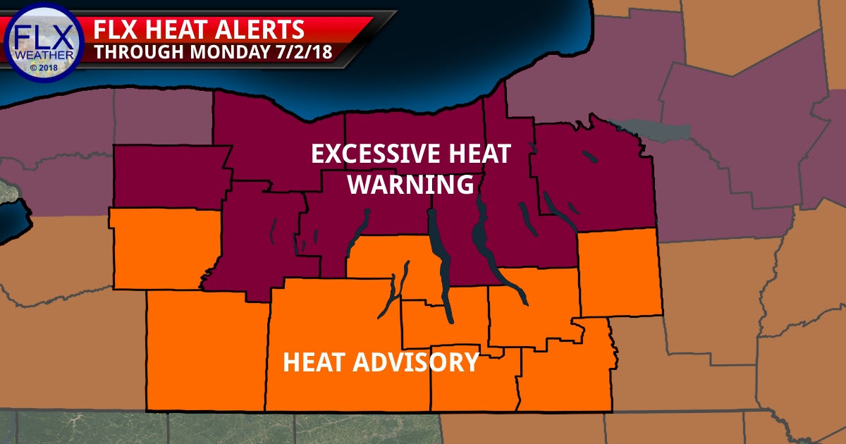finger lakes weather forecast saturday june 30 2018 sunday july 1 2018 heat wave warning advisory alerts