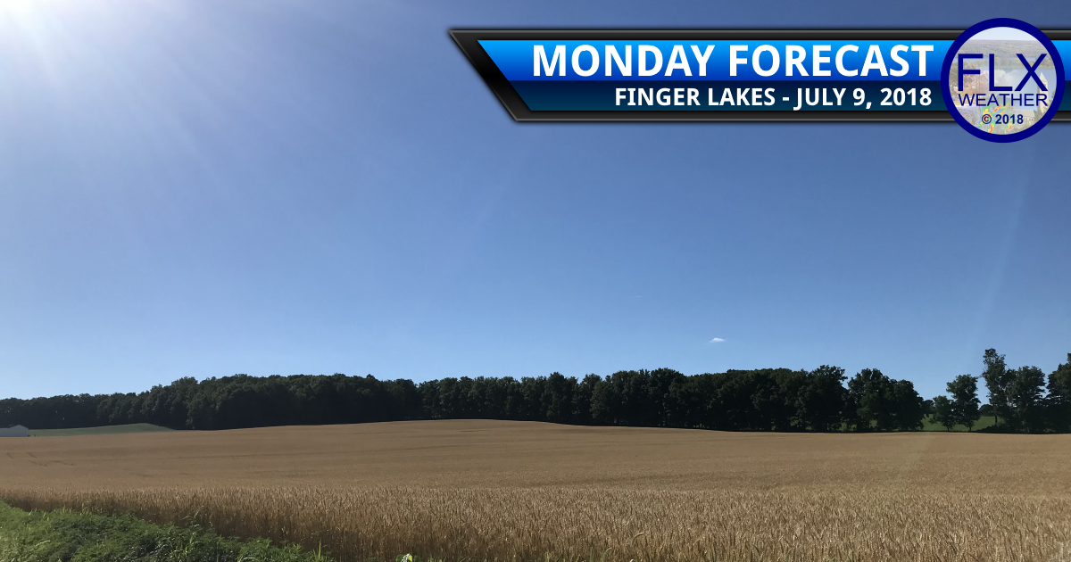 finger lakes weather forecast monday july 9 2018 sunny warm dry
