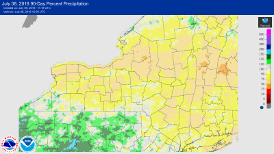 finger lakes weather predrought abnormally dry july 2018