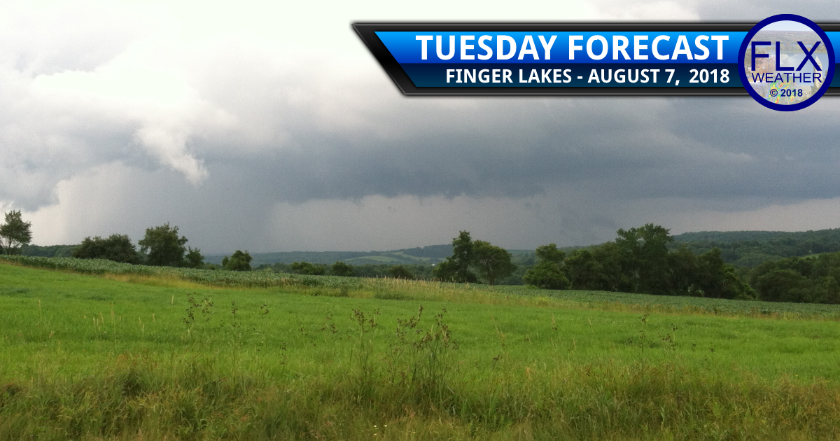 finger lakes weather forecast tuesday august 7 2018 thunderstorms