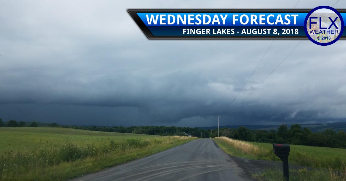 finger lakes weather forecast wednesday august 8 2018 rain thunder