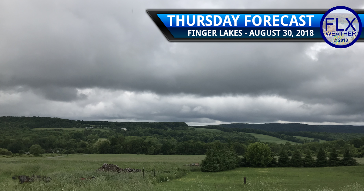 finger lakes weather forecast thursday august 30 2018 cold front clouds rain cool