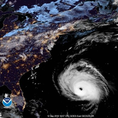 hurricane florence satellite forecast update