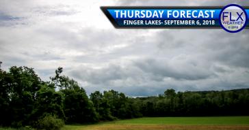finger lakes weather forecast thursday september 6 2018 cold front rain chances