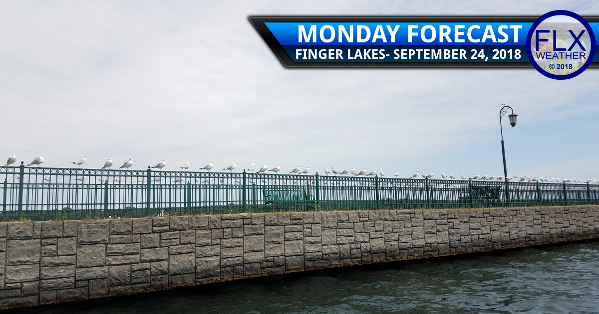 finger lakes weather forecast monday september 24 2017 increasing clouds rain wind monday night
