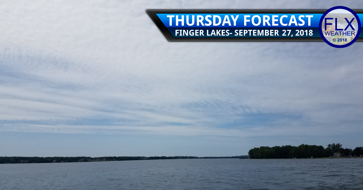 finger lakes weather forecast thursday september 27 2018 clouds overnight rain