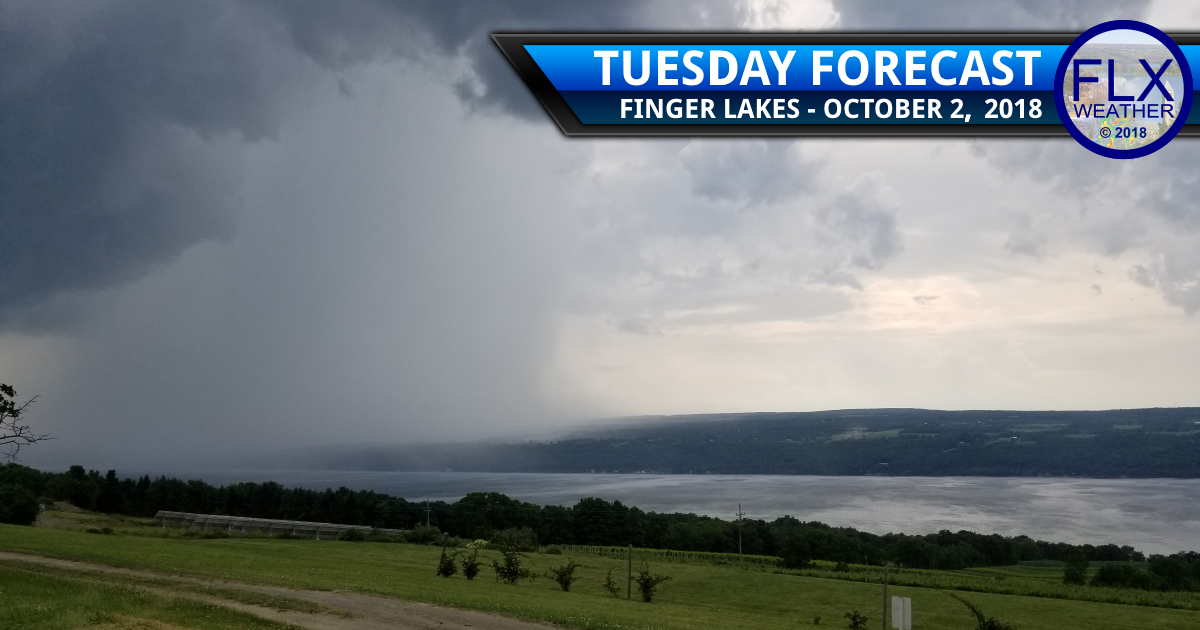 finger lakes weather forecast tuesday october 2 2018 thunderstorms rain downpours cold front