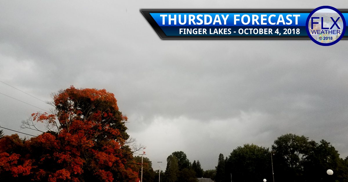 finger lakes weather forecast thursday october 4 2018 wind clouds rain thunderstorms cold front