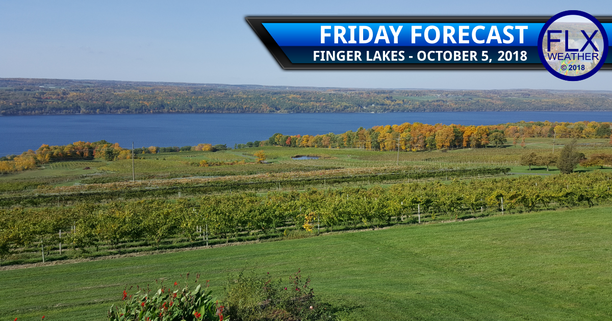 finger lakes weather forecast Friday october 5 2018 sun weekend weather front