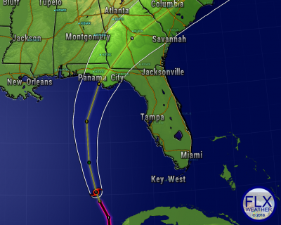 hurricane michael forecast track storm surge
