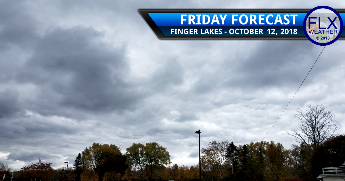 finger lakes weather forecast friday october 12 2018 cold cloudy windy nighttime rain lake effect weekend weather