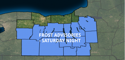 frost advisories finger lakes weather saturday october 13 2018