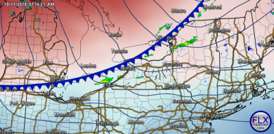 finger lakes weather forecast cold front surface map 850mb temperatures
